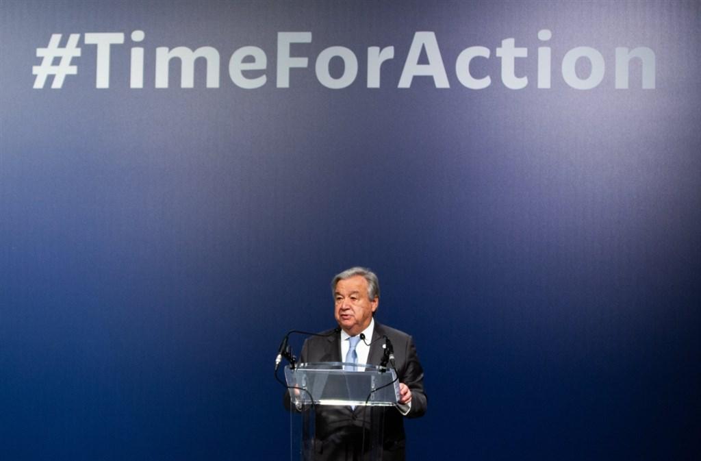 聯合國秘書長古特瑞斯14日表示,他對馬德里舉行的聯合國氣候會議成果感到失望。(圖取自twitter.com/antonioguterres)