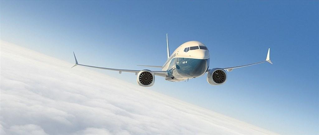 知情人士15日透露,波音正考慮暫時停產或減產737 MAX客機。圖為737 MAX機型。(圖取自波音公司網頁boeing.com)