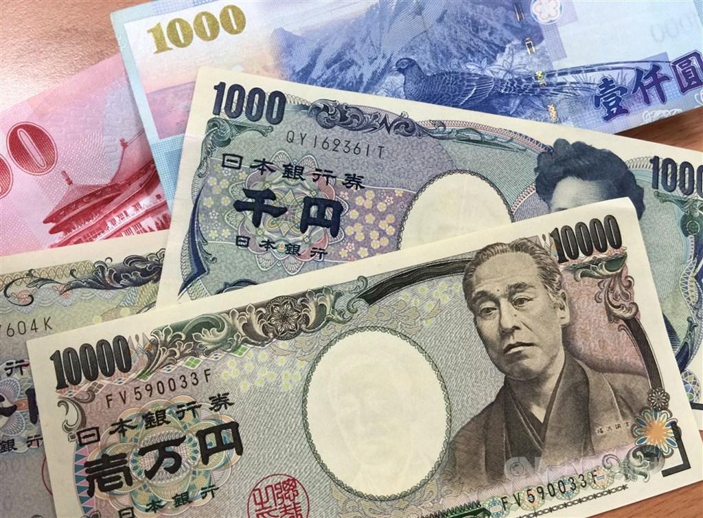 新台幣強勁走升,日圓17日現鈔賣出價來到0.2787元,寫下近1年最低紀錄。(中央社檔案照片)