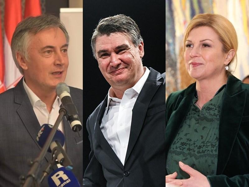克羅埃西亞22日舉行總統大選,目前聲勢居於領先的是季塔洛維奇(右起),緊追在後的是中間偏左前總理米蘭諾維奇,暫排第三、但可能成為挺進第二輪投票黑馬的是無黨籍許構洛。(左圖取自facebook.com/MiroslavSkoroofficial、中間取自facebook.com/ZoranMilanovic、右圖取自facebook.com/KolindaGrabarKitarovic)