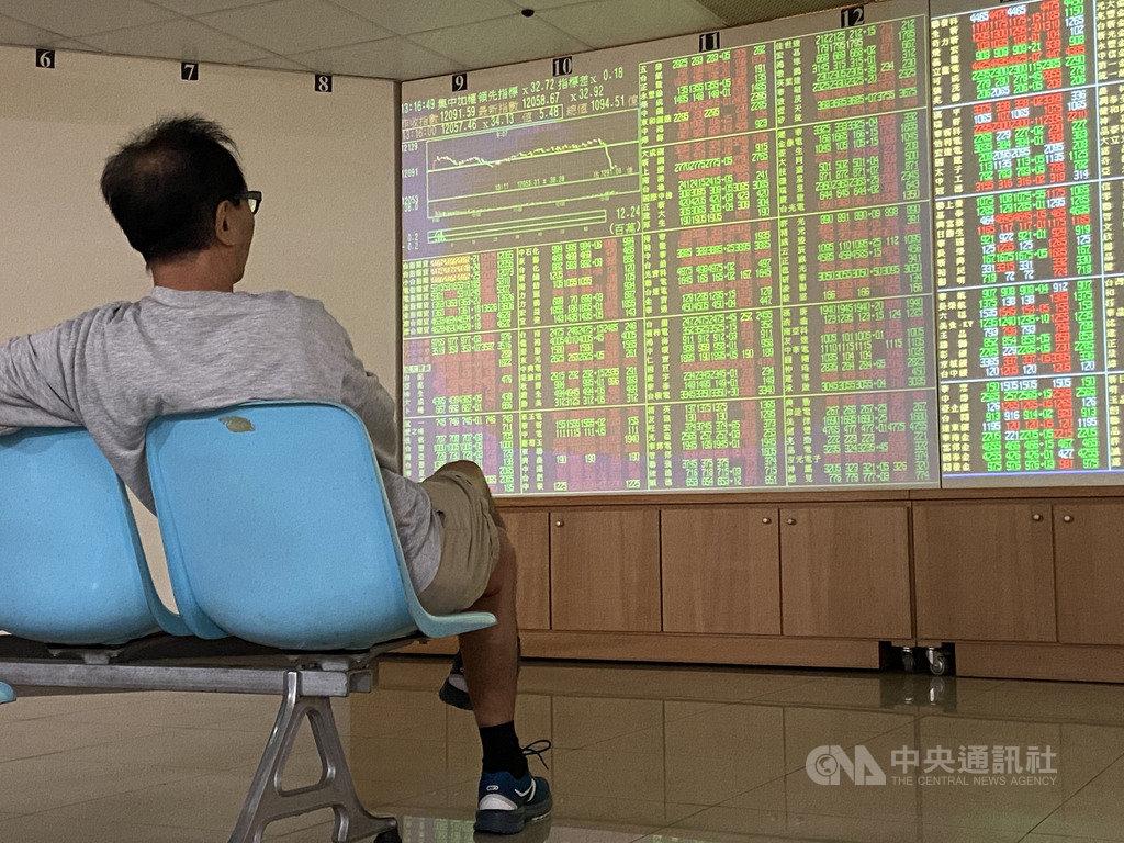 台北股市30日開高走低,收盤跌38.22點,為12053.37點,跌幅0.32%,成交金額新台幣1244.29億元。中央社記者董俊志攝 108年12月30日
