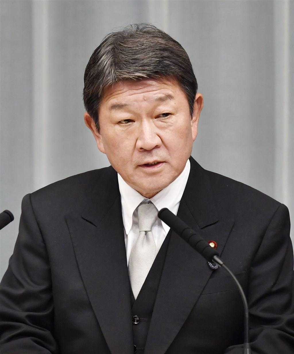 日本外務大臣茂木敏充(圖)就總統蔡英文連任發表談話指出,台日是共有基本價值、緊密經濟關係與人員往來的重要夥伴。(檔案照片/共同社提供)