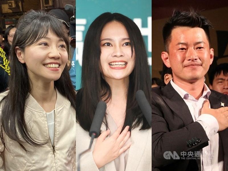 2020大選落幕,79席的區域立委中,這次出現了14個新面孔,其中包括高嘉瑜(左起)、賴品妤、陳柏惟。(中央社檔案照片)