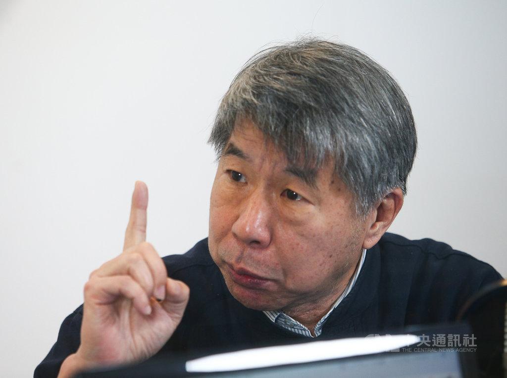 表態參選國民黨主席的台大教授張亞中(圖)14日接受廣播專訪,對黨內改革方向提出看法。中央社記者謝佳璋攝  109年1月14日