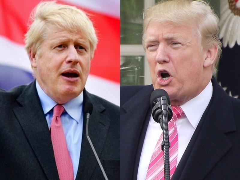 2015年伊朗與包括美國在內的主要6國敲定核子協議,但美國已宣布退出,英國首相強生14日呼籲美國總統川普,主導敲定新協議,確保伊朗不會取得核武。(左圖取自facebook.com/borisjohnson、右圖為中央社檔案照片)