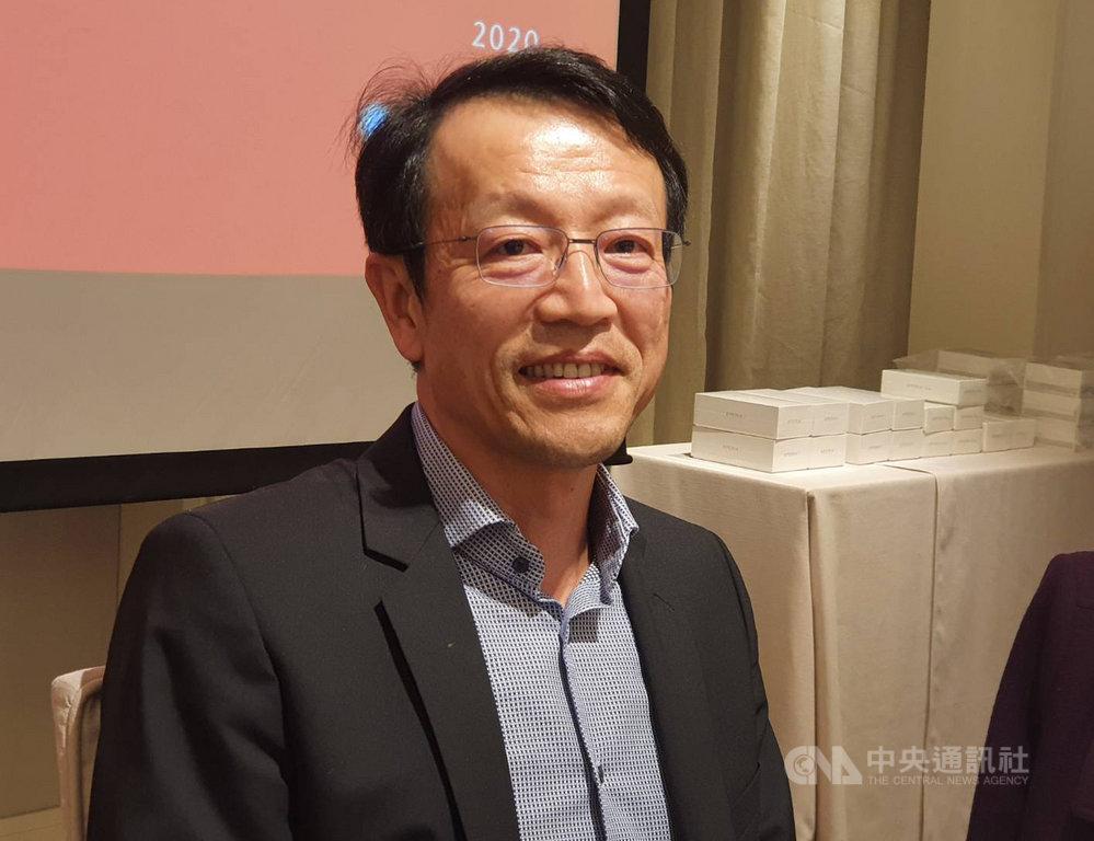 台灣進入5G元年,Sony Mobile總經理林志遠看好5G旗艦動能,今年目標在Android旗艦手機搶下23%市占,年成長率上看50%。中央社記者江明晏攝  109年1月14日