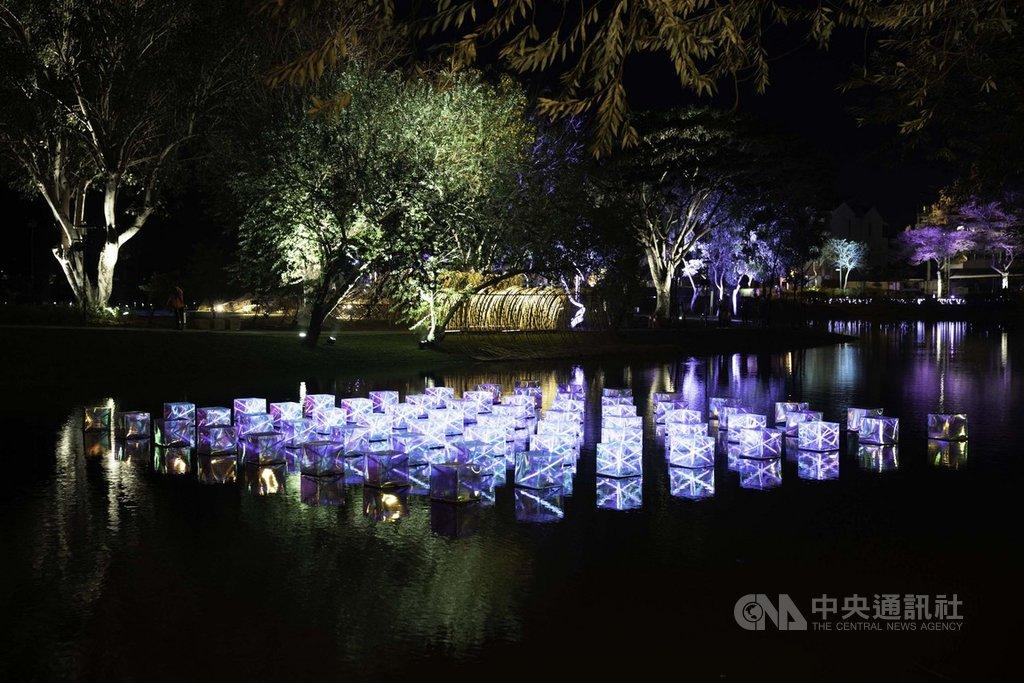 台南市政府主辦2020月津港燈節18日登場,月津港水域將遍布51件海內外的裝置藝術燈飾。(台南市政府提供)中央社記者張榮祥台南傳真  109年1月15日