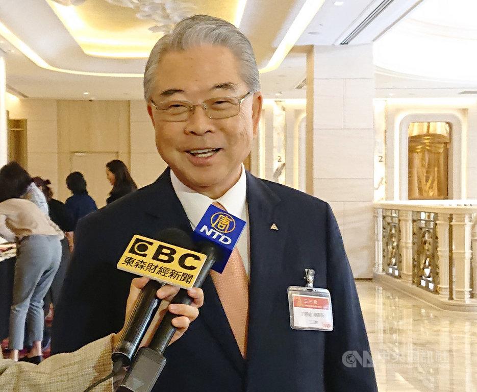展望2020年,三三會理事長許勝雄認為,中國是台灣重要出口市場,大家應努力找到穩健和平發展的方法。中央社記者潘姿羽攝 109年1月15日