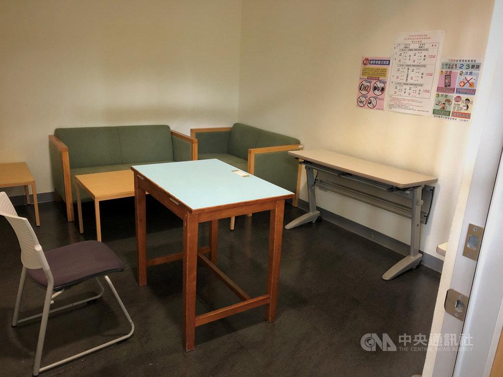 109學年度學科能力測驗台灣大學特殊試場共有158名考生,其中有9人使用單人試場,台大特地安排教授休息室等空間。中央社記者陳至中攝 109年1月16日