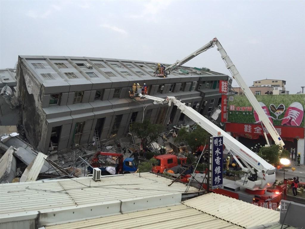 台南市維冠金龍大樓2016年2月間因強震倒塌,造成115人死亡。(中央社檔案照片)