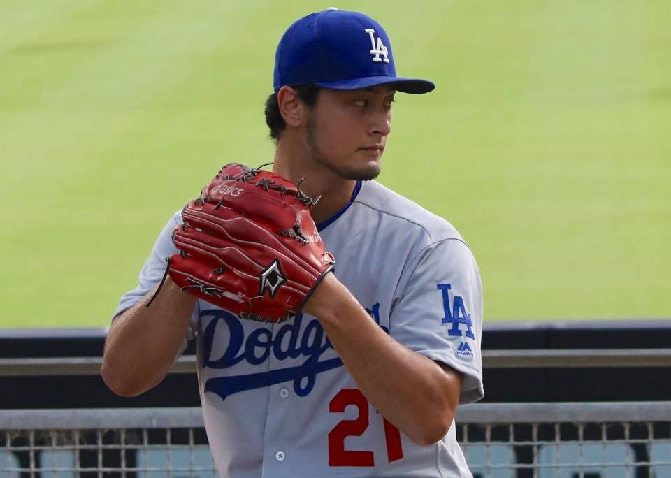 美國職棒爆發偷暗號醜聞,洛杉磯球評發出不平之鳴,為投手達比修有(圖)、柯蕭等人叫屈。(圖取自facebook.com/Dodgers)