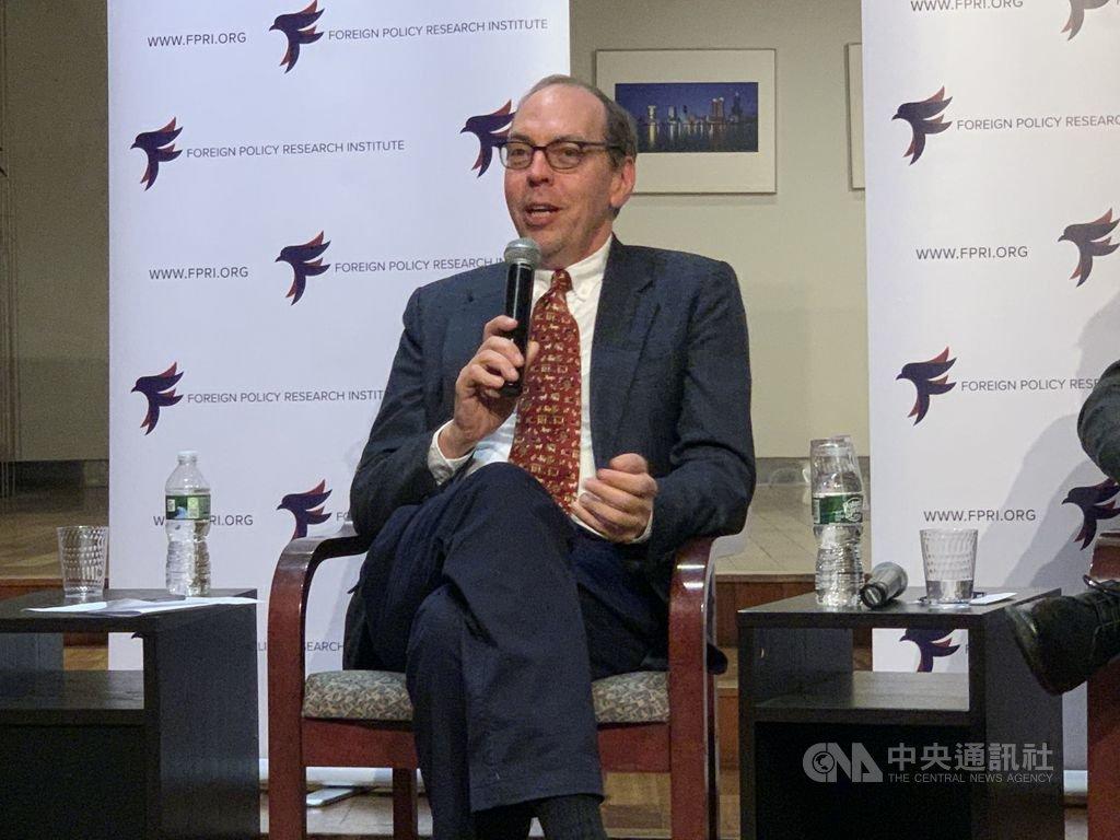 費城智庫外交政策研究所亞洲計畫主任戴傑16日說,總統蔡英文連任後,中國可能持續對台施壓,但各種手段都會帶來北京不樂見的後果。中央社記者尹俊傑紐約攝 109年1月17日