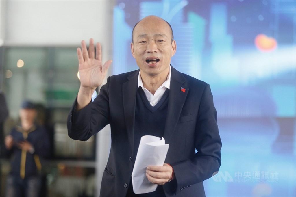 中央選舉委員會17日公布確認罷免高雄市長韓國瑜第一階段的提議已經達規定門檻,韓國瑜回應,「全力拚市政、尊重民意的決定」。中央社記者董俊志攝 109年1月14日