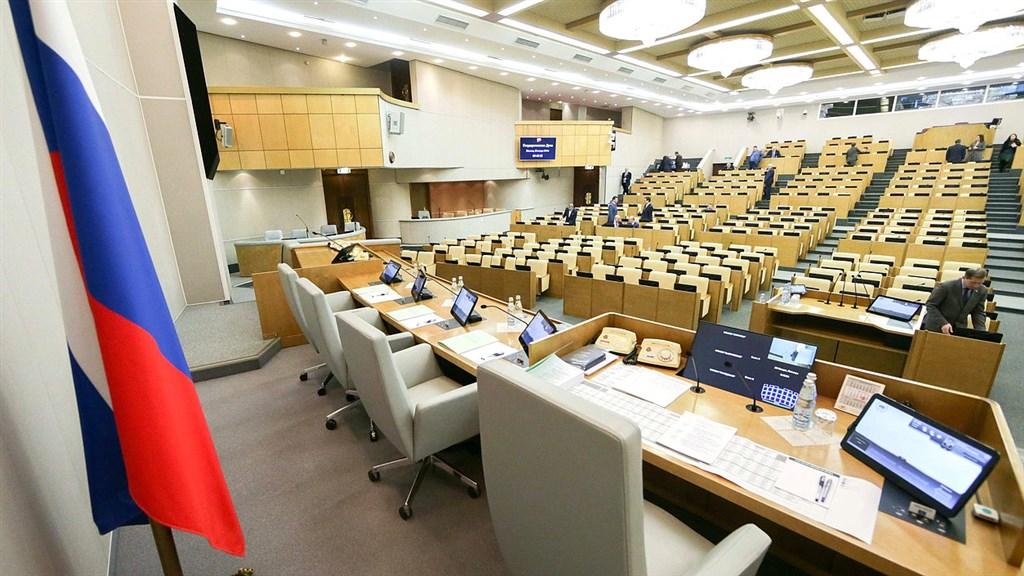 俄羅斯國會16日以壓倒性多數,支持總統蒲亭跌破外界眼鏡挑選的新總理米舒斯京。圖為俄羅斯國會議場。(圖取自俄羅斯國會網頁duma.gov.ru)
