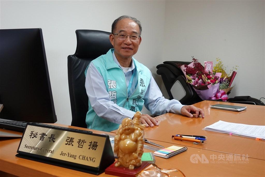 民眾黨18日請公督盟為5名準立委上課,秘書長張哲揚表示,若立委連兩會期被評鑑為觀察名單就開除。(中央社檔案照片)
