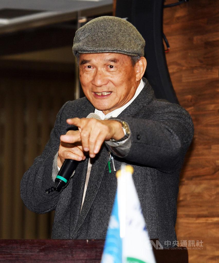 台灣聯合國協進會(TAIUNA)18日在台北舉行宣達團成員回娘家暨名人座談會,協會理事長蔡明憲會中帶領成員加油集氣,致詞時並鼓勵眾人要再接再厲。中央社記者施宗暉攝 109年1月18日