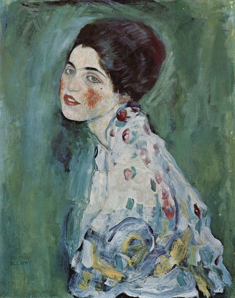 義大利當局證實,2019年12月在義大利北部城市比森薩的里奇歐迪現代美術館找到的畫作,確實是1997年從這座美術館失竊的克林姆作品「女士肖像」。(圖取自維基共享資源;版權屬公眾領域)