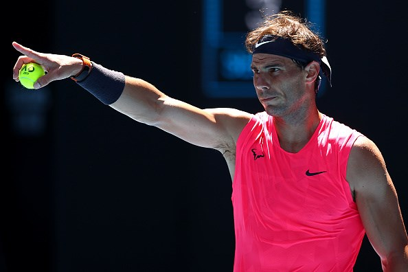 現任球王納達爾21日在澳網公開賽首輪比賽旗開得勝。(圖取自twitter.com/AustralianOpen)