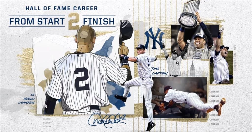 紐約洋基傳奇球星吉特以歷年第2高得票率進入名人堂,只差1票就能全票入選。(圖取自facebook.com/Yankees)