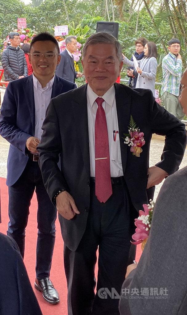 經濟部長沈榮津22日出席康舒科技淡水新大樓動土典禮表示,台灣將重新被定位高階製造中心。今年將著重落實台商回台投資帶動就業機會,讓人民有感。中央社記者韓婷婷攝 109年1月22日