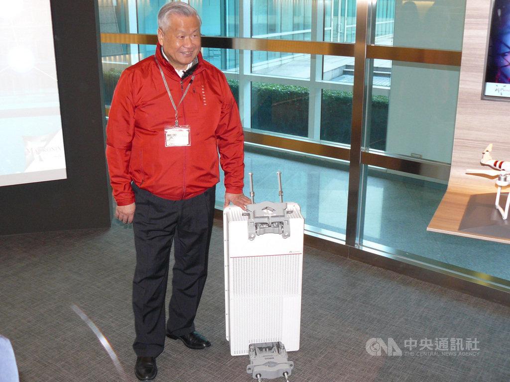 旺宏董事長吳敏求說,全球幾乎80%的5G基地台供應商都是旺宏的客戶。中央社記者張建中攝  109年1月28日