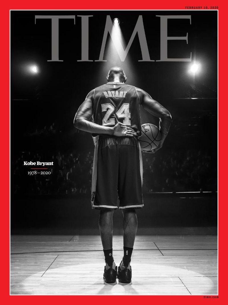 NBA前傳奇球星布萊恩因搭乘的私人直升機墜毀意外身亡,為了紀念布萊恩,「時代」雜誌以紀念封面的形式向他致敬。(圖取自twitter.com/time)