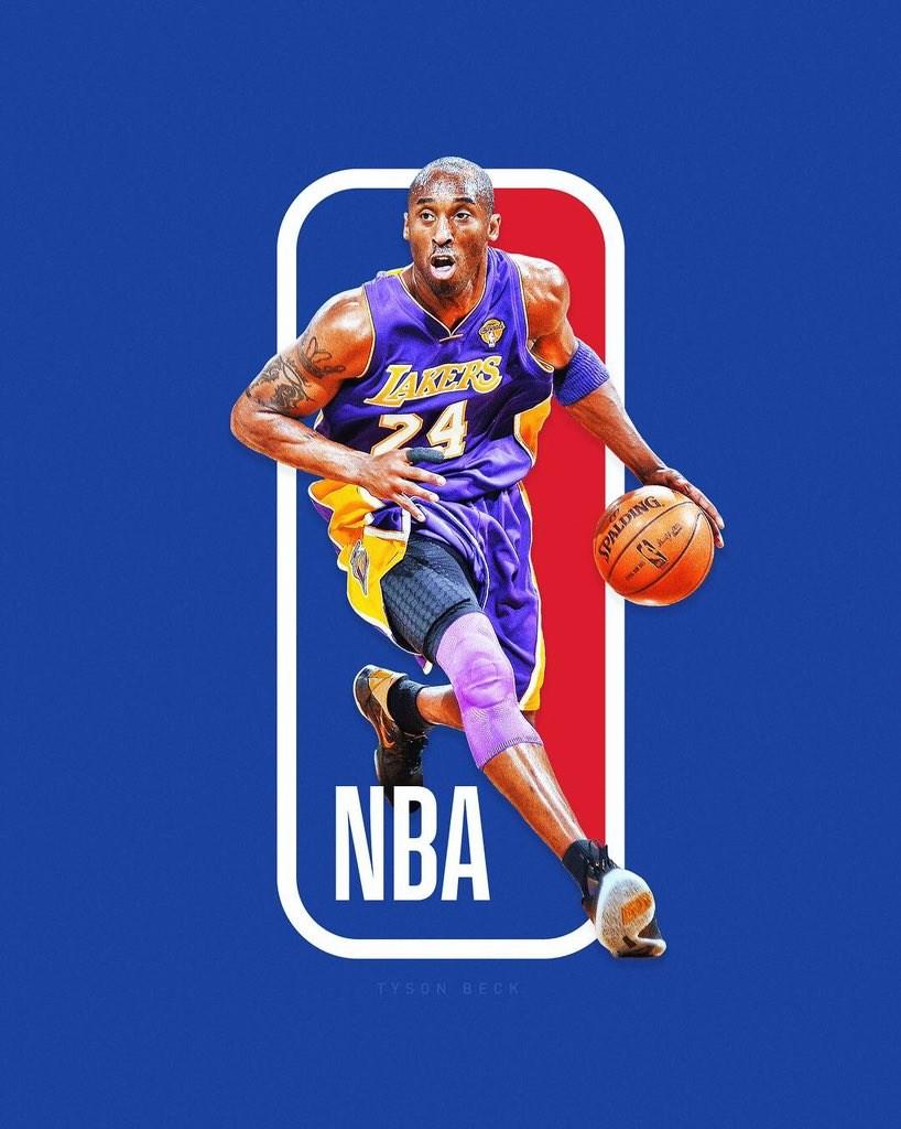Kobe 26日意外辭世,超過150萬粉絲上網連署要求把這位湖人隊退役球員變成新NBA標誌。(圖取自twitter.com/tysonbeckdesign)