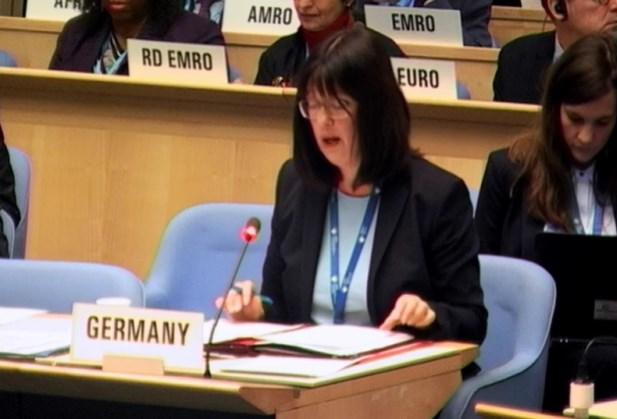 德國代表歐盟27會員國聯合發言表示,面對全球疫情合作至關重要,務必避免訊息出現缺口,沒有任何區域應被遺落在資訊分享過程之外。(圖取自世衛組織網頁who.int)