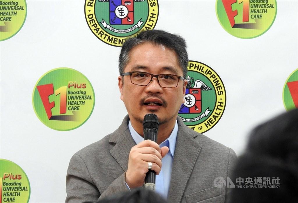 菲律賓衛生部次長杜明戈(圖)指菲國對中港澳發布的旅行禁令包含台灣。知情人士說,若菲方遲未釋出善意,台灣可能作出具體回應。中央社記者陳妍君馬尼拉攝 109年2月12日