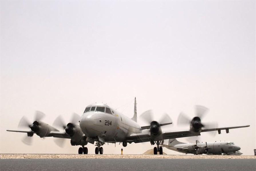 民進黨籍立委王定宇13日披露,美軍一架P-3C反潛機上午在台灣鵝鑾鼻外海;國防部回應,全程監偵。圖為P-3C同機型軍機。(圖取自美軍網頁www.af.mil)