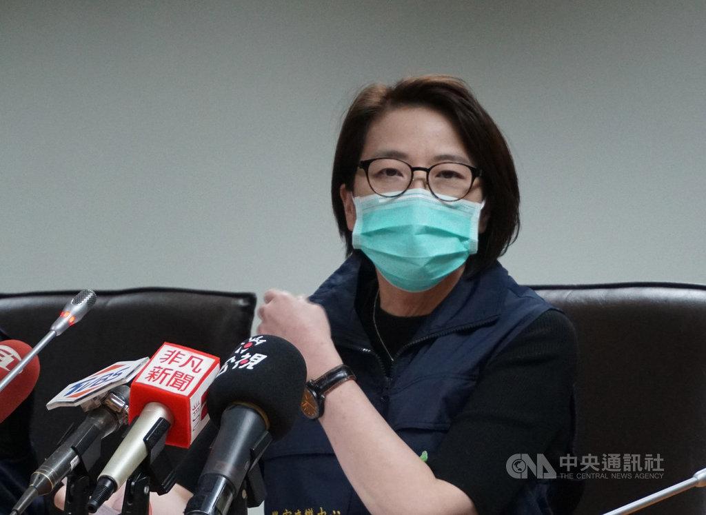 台北市副市長黃珊珊(圖)14日表示,自香港入境的3名遊客需居家檢疫,但從8日起失聯至今,所留聯絡地點、電話也是假資料,經詢問中央後決定公布姓名。中央社記者劉建邦攝 109年2月14日