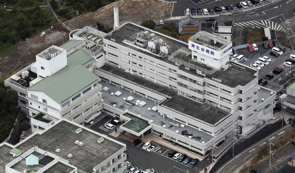 日本和歌山縣政府15日表示,和歌山縣濟生會有田醫院新增3起武漢肺炎確診病例。圖為濟生會有田醫院。(共同社提供)
