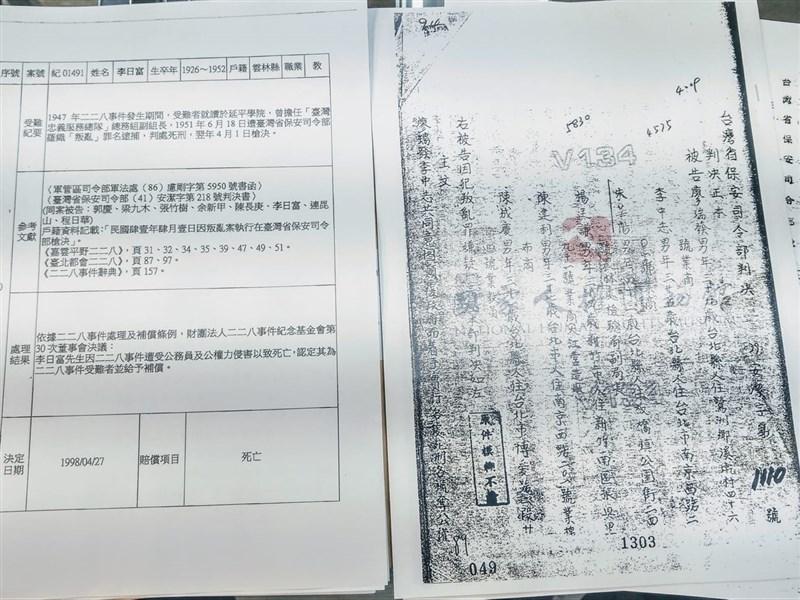 促進轉型正義委員會14日表示「台灣轉型正義資料庫」將在2月26日對外發表。圖為立委鄭運鵬2019年10月發文表示促轉會已查詢延平中學的前身「延平學院」在白色恐怖時期7位受害師生的資料。(圖取自facebook.com/phoenix.cheng.96)