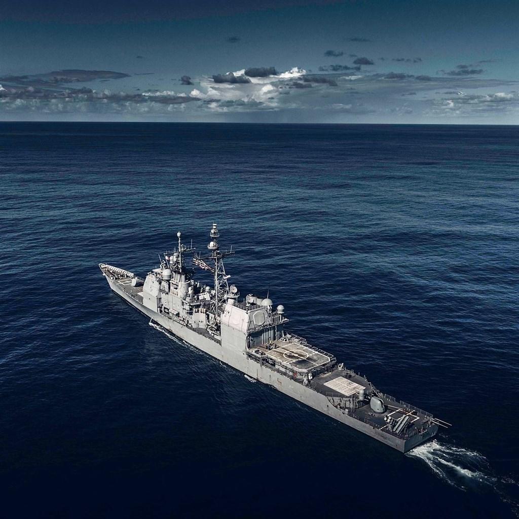 配備神盾作戰系統的提康德羅加級巡洋艦昌塞勒斯維號(圖)15日進行一般演訓時,由東海駛往南海。(示意圖/圖取自facebook.com/pg/USS.Chancellorsville)
