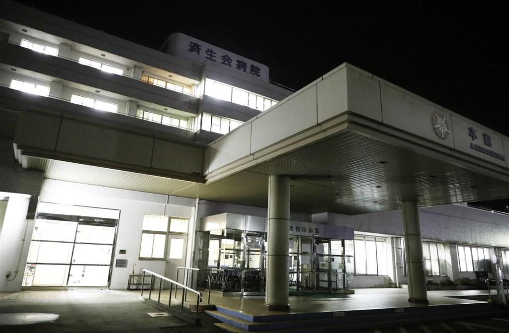 日本和歌山縣濟生會有田醫院已確診5例武漢肺炎病例,外界憂慮可能出現院內感染。圖為濟生會有田醫院。(共同社提供)