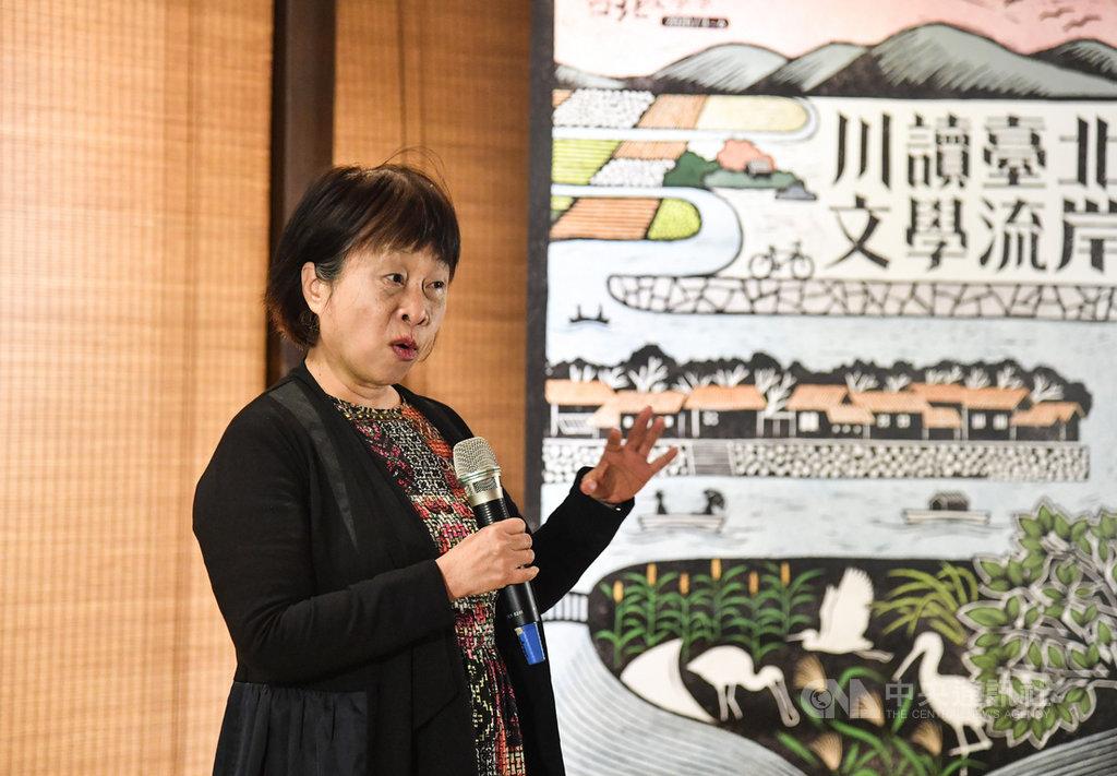 2020台北文學季將於3月起登場,主題為「川讀台北.文學流岸」,參展作家李昂20日出席活動起跑記者會,邀請民眾一同參與這場精彩文學饗宴。中央社記者林俊耀攝 109年2月20日