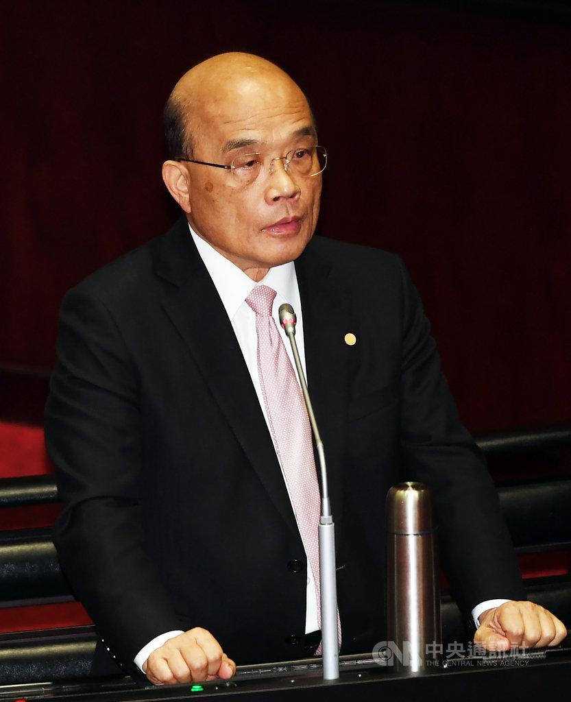 行政院長蘇貞昌21日在立法院表示,台灣防疫量能有限,政府願接回同胞,有弱勢優先、檢疫優先等原則,都已跟中國提出,但現在仍談不來,阻礙是在中國那邊,不是在台灣這邊。中央社記者施宗暉攝 109年2月21日