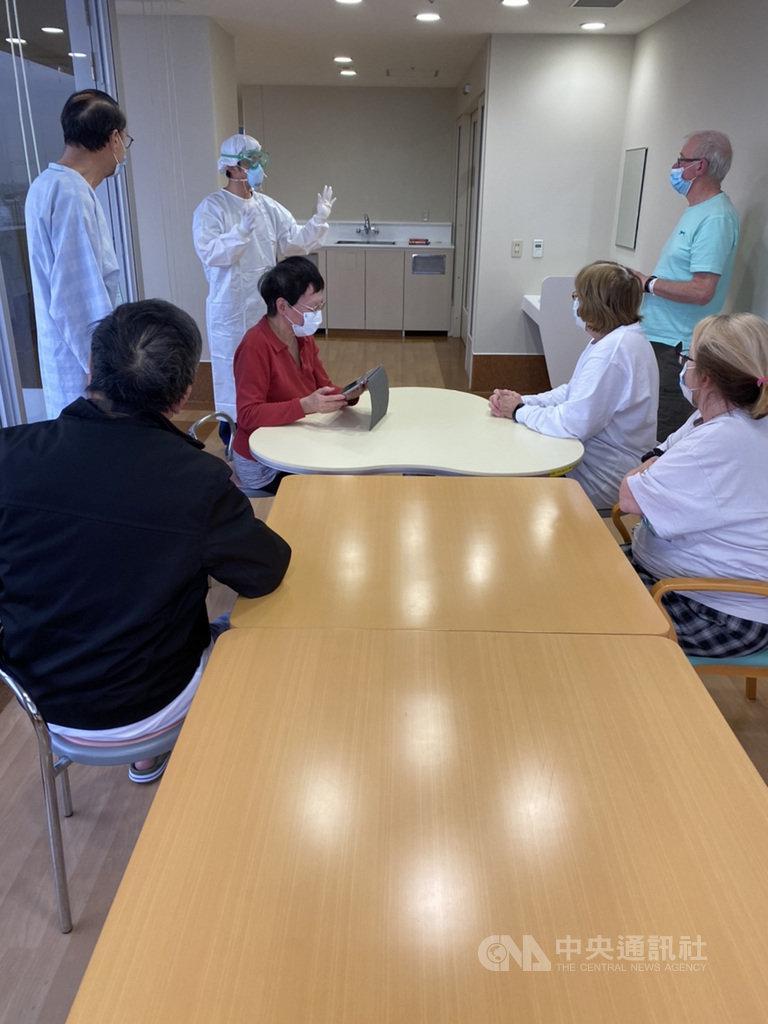 鑽石公主號遊輪上確診感染武漢肺炎、在日本住院治療的兩名台灣乘客26日出院。圖為其中一名台灣乘客在東京接受治療的醫院。(讀者提供)中央社台北傳真 109年2月26日