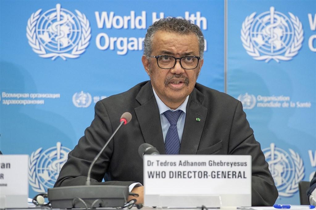 世界衛生組織秘書長譚德塞26日表示,中國以外其他國家25日通報的新增確診總數,首度超越中國新增人數。(圖取自twitter.com/WHO)