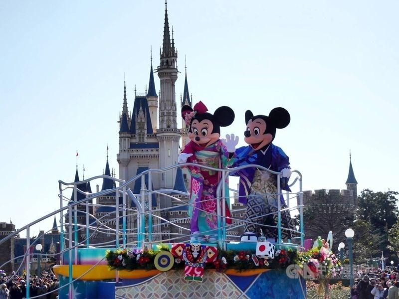 NHK報導,為預防武漢肺炎疫情擴散,東京迪士尼樂園及迪士尼海洋2月29日至3月15日閉園。(中央社檔案照片)