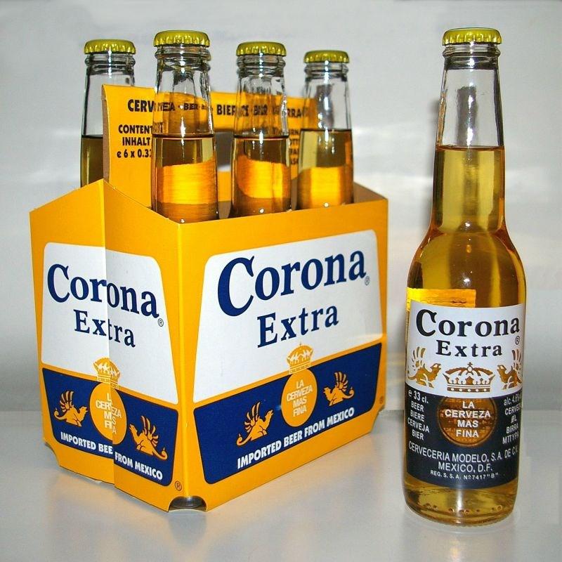 受到旗下可樂娜啤酒(Corona)英文名稱與冠狀病毒(coronavirus)撞名拖累,全球釀酒業巨擘安海斯-布希英博集團在中國的利潤損失逾50億元。(圖取自維基共享資源;作者N-Lange.de,CC BY-SA 3.0)