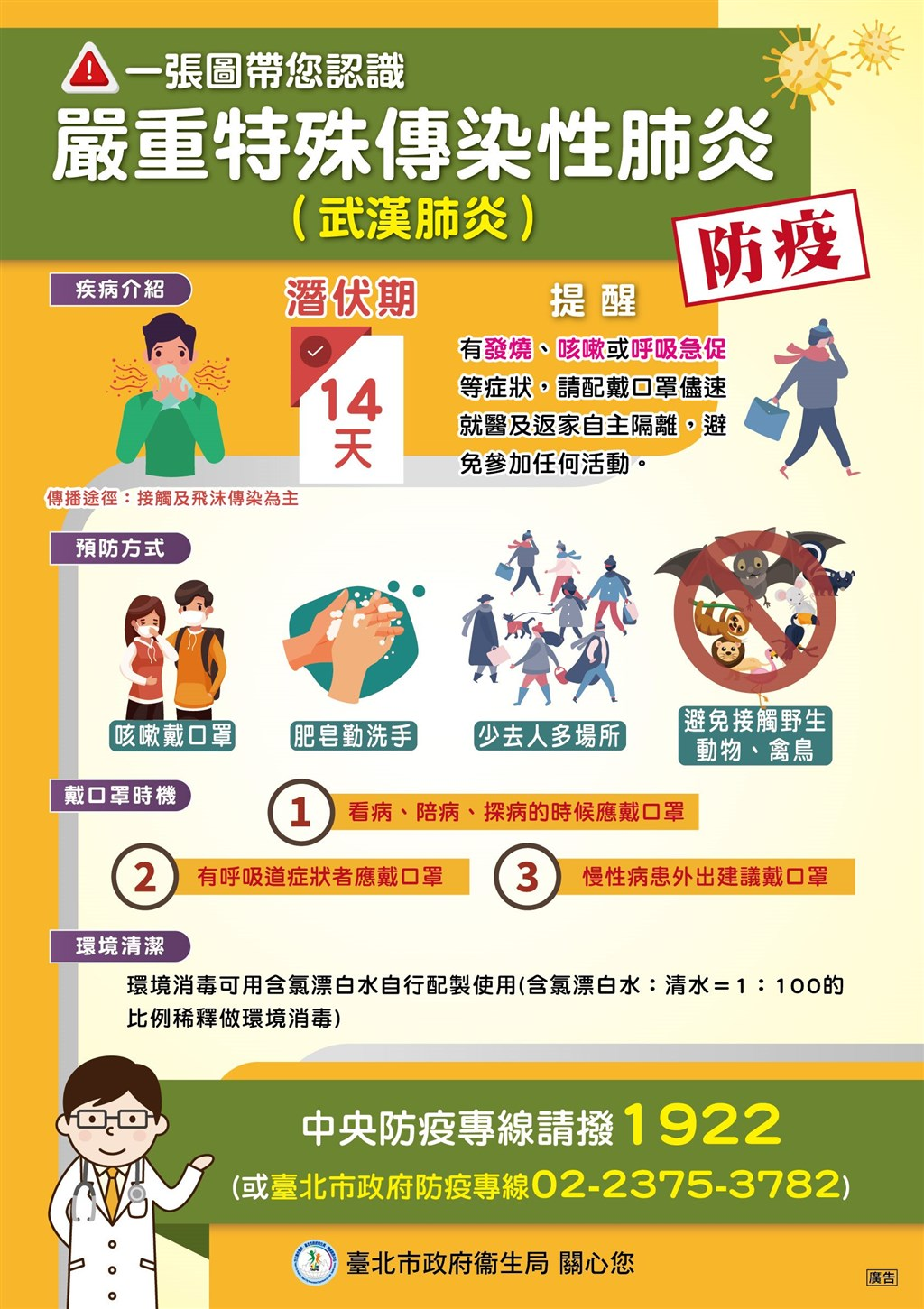 北市武漢肺炎防疫,2家防疫旅館已有逾20人入住進行居家檢疫。(圖取自北市衛生局網頁health.gov.taipei)