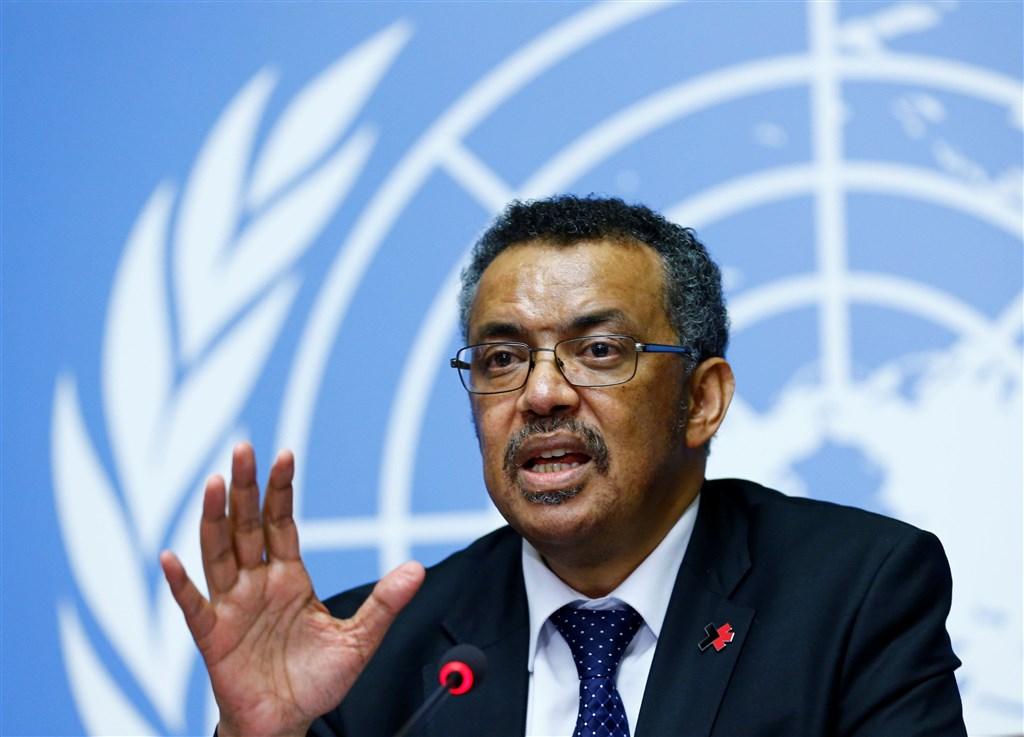 世衛秘書長譚德塞表示,過去一天中國以外國家和地區通報的武漢肺炎病例數比中國多出了幾乎9倍。(圖取自twitter.com/UNGeneva)