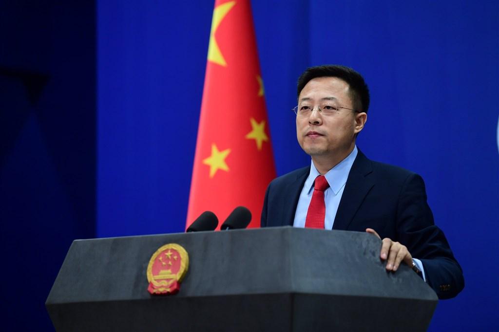 中國外交部發言人趙立堅(圖)2日直指美國國務卿蓬佩奧對「港區國安法」無知。(圖取自twitter.com/zlj517)