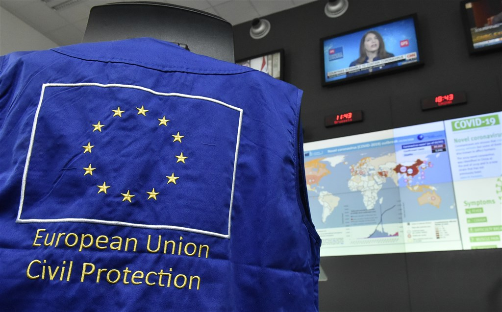 歐盟所屬機構出現首例員工感染武漢肺炎病例,歐洲防衛局4日證實,一名自義大利返回的員工確診。(示意圖/法新社提供)