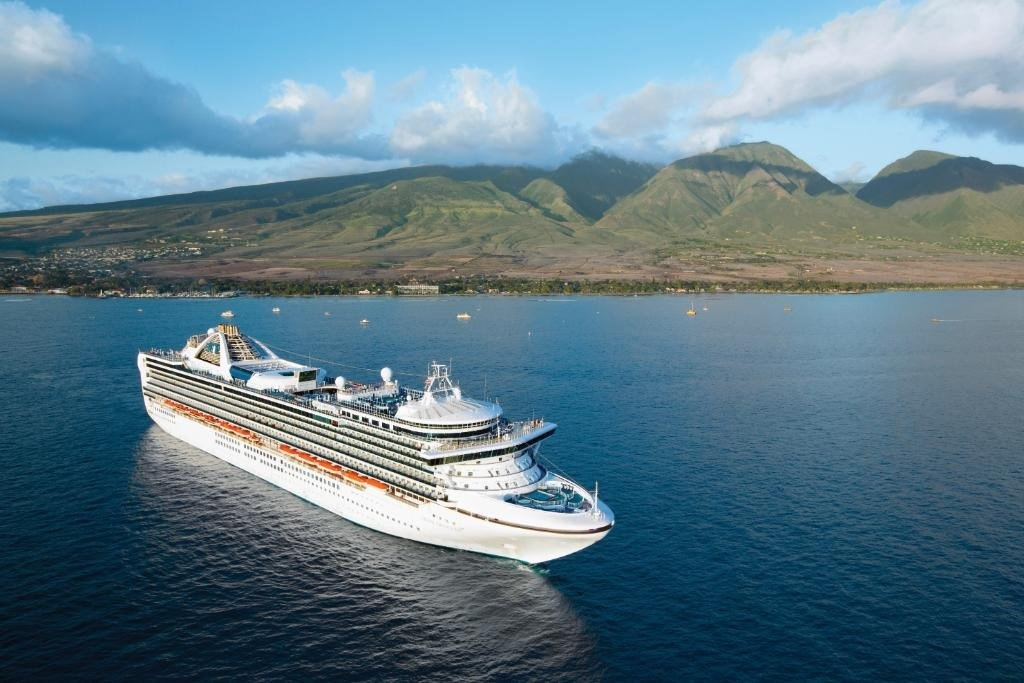 美國加州州長紐松4日在記者會上表示,公主遊輪公司旗下郵輪「至尊公主號」上11名乘客和10名船組員出現武漢肺炎症狀。(圖取自twitter.com/PrincessCruises)