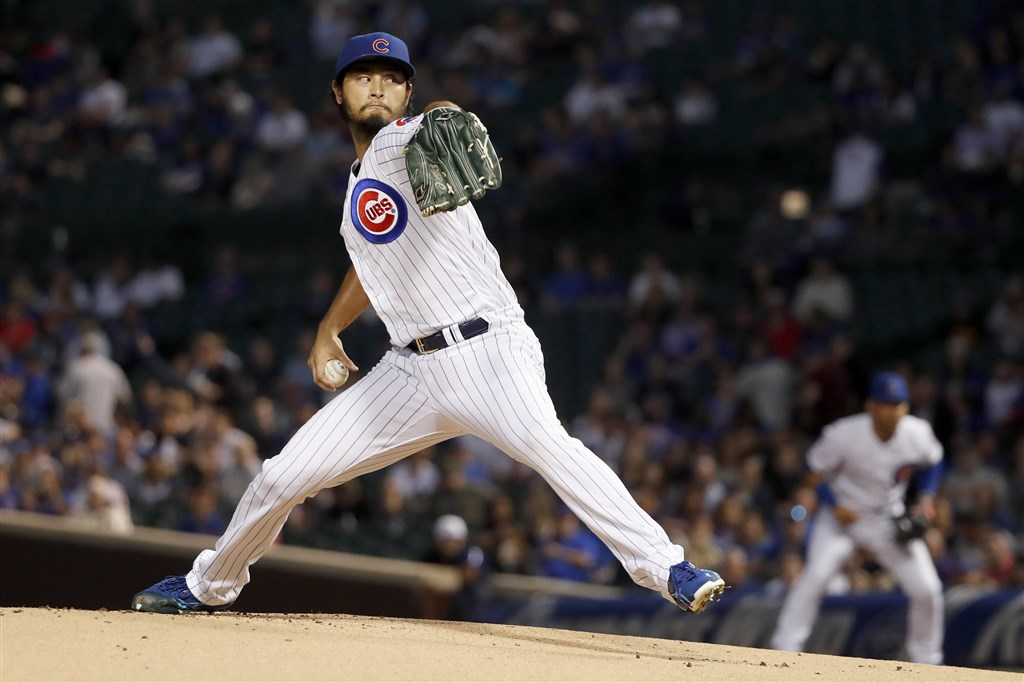 MLB芝加哥小熊日籍強投達比修有因為出現類流感症狀住院。(圖取自twitter.com/Cubs)