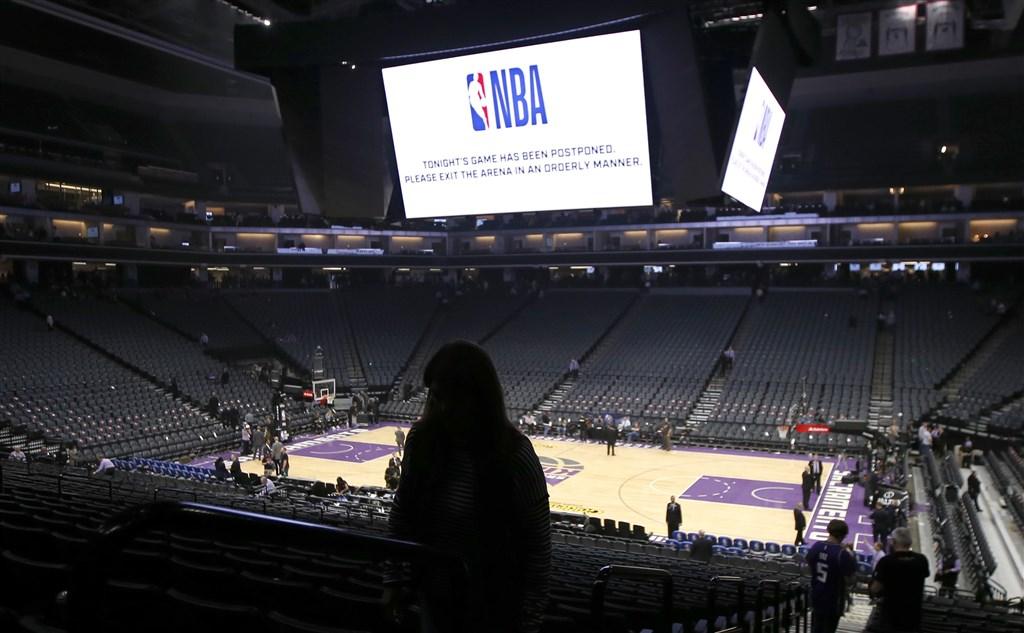 NBA因為猶他爵士隊法籍中鋒戈貝爾確診感染武漢肺炎,宣布停賽。(美聯社)