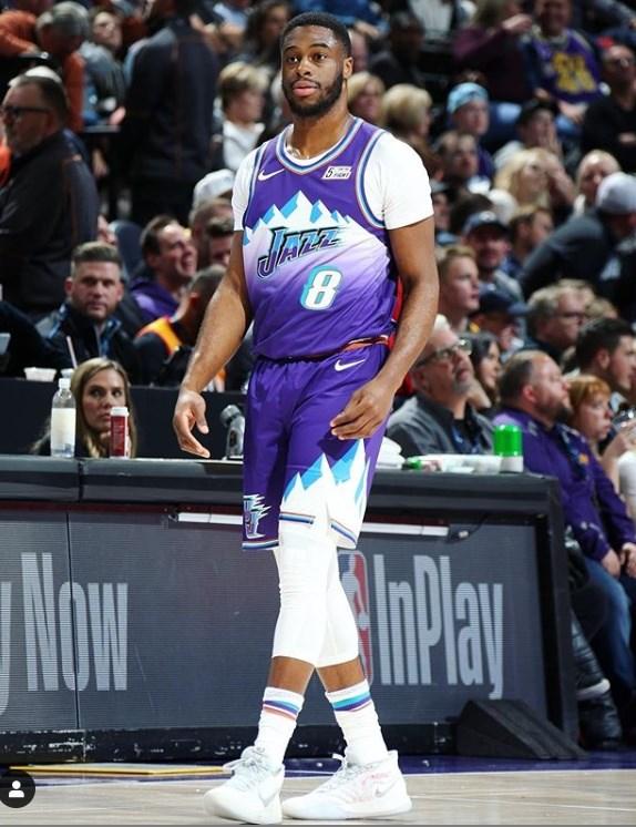 美媒謠傳爵士控衛穆迪耶(圖)是NBA第2名確診球員。(圖取自穆迪耶IG網頁instagram.com)