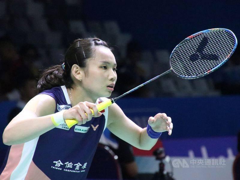 台灣羽球一姐戴資穎(圖)16日在全英羽球公開賽女單決賽,擊敗當今世界球后、中國好手陳雨菲,4年內第3度奪得全英冠軍。(中央社檔案照片)